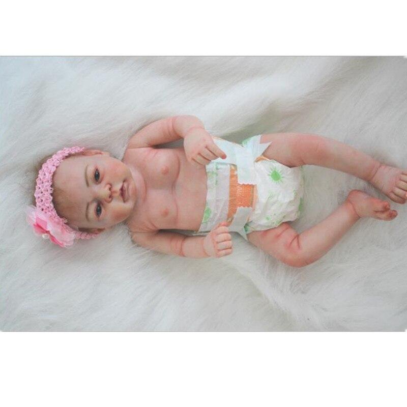 NPK Handmade Silicone Bebe Reborn Dolls Babies 50cm Toys Children Soft Vinyl Realistic Kids Dolls Playmate Bonecas Brinquedos