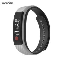 The Warden Store W810 2017 Fashion Smart Bracelet Support Pedometer Heart Rate Tracking Smart Watch For