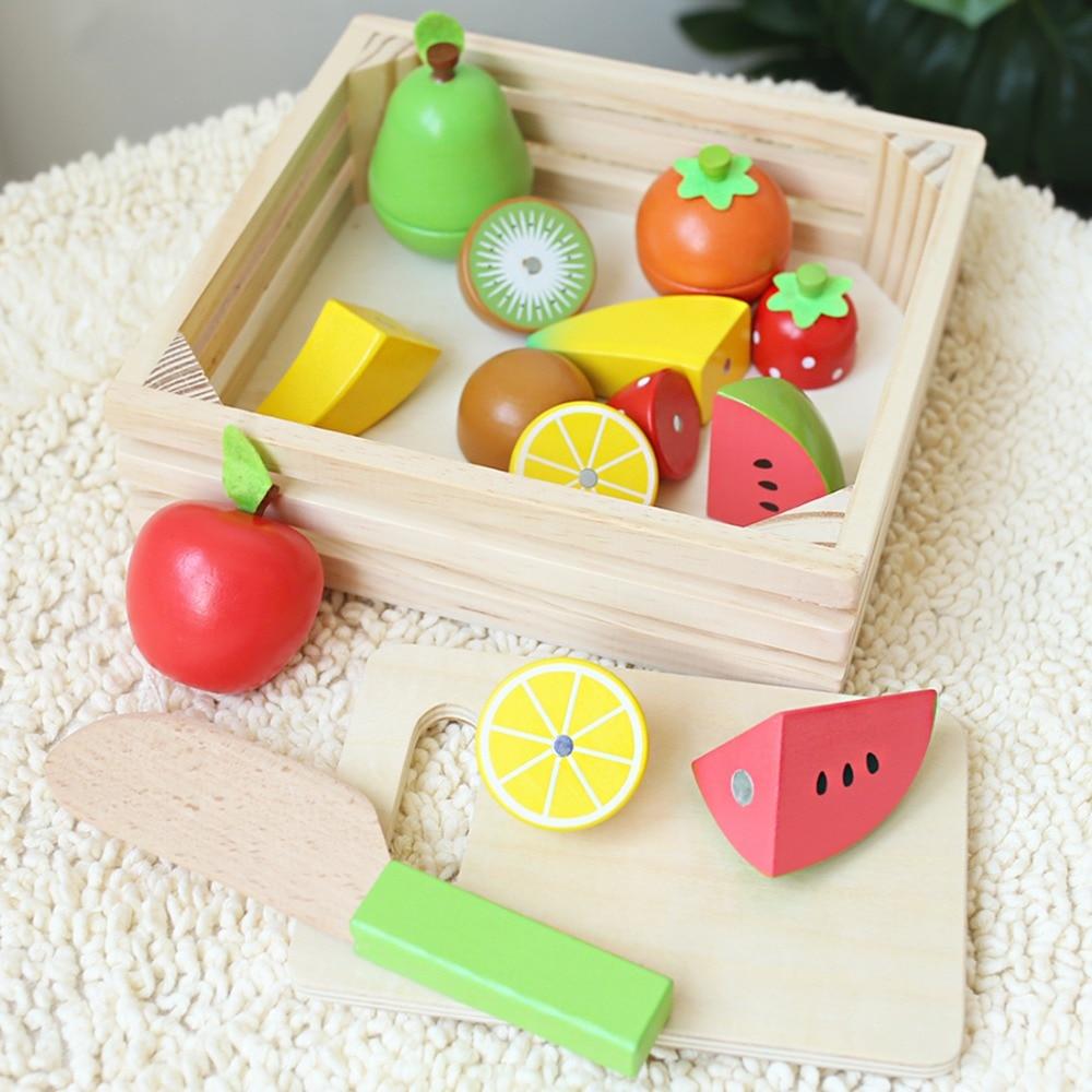 1Set(11pc) Baby Fruit Puzzle Toys Christmas Gift Wood