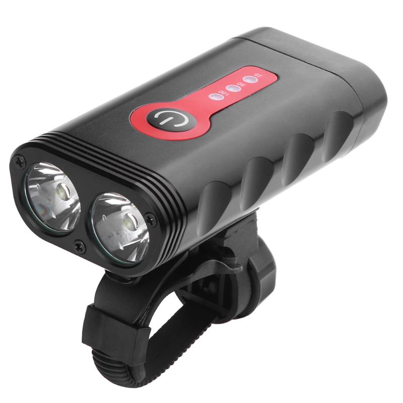 USB Rechargeable LED Bicycle Headlight 5 Mode Bike Lamp Headlamp Aluminum Bicycle Front LED Flashlight Outdoor Cycling Light high quality 2 mode power 5w led headlight 48000lx outdoor fishing headlamp rechargeable hunting cap light