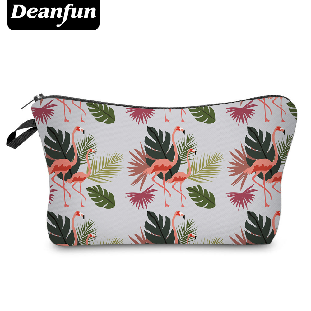 Deanfun 3D Printing Flamingo Cosmetic Bags with Zipper Fashion for Travelling Makeup Storage 51053 flamingo patch zipper swing dress