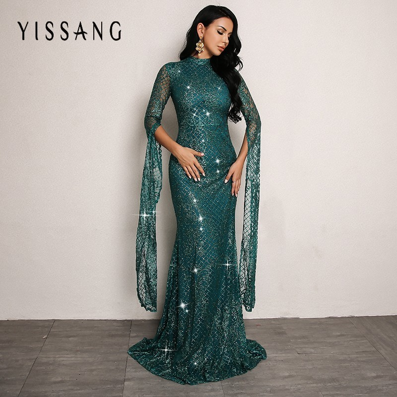 Detail Feedback Questions about Yissang Sexy Sequin Autumn Dress Women Long  Sleeve Maxi Long Dress Elegant Party Ninght Club Bodycon Dresses Vestido  2018 on ... 19f4b2c29f0b