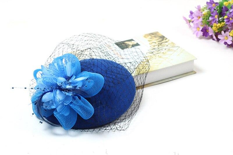 Elegante bruiloft hoeden en tovenaars vrouw Bruiloft hoeden voor - Bruiloft accessoires - Foto 5