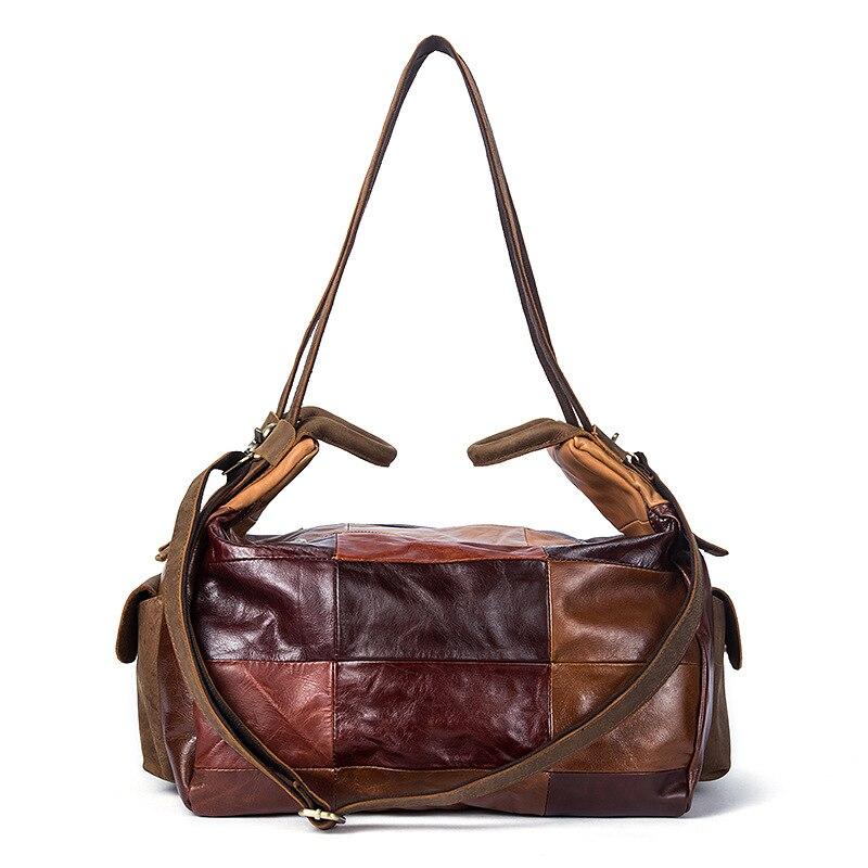 Мужской из натуральной кожи в стиле ретро Дорожная сумка Мода Чемодан сумка унисекс большой Ёмкость сумка красочный Для мужчин дорожная