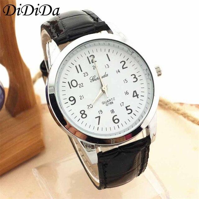 463203d0d72 1 PCS Mens Relógio Elegante Pulseira de Couro Analógico Esportivo de Luxo  de Quartzo relógios de