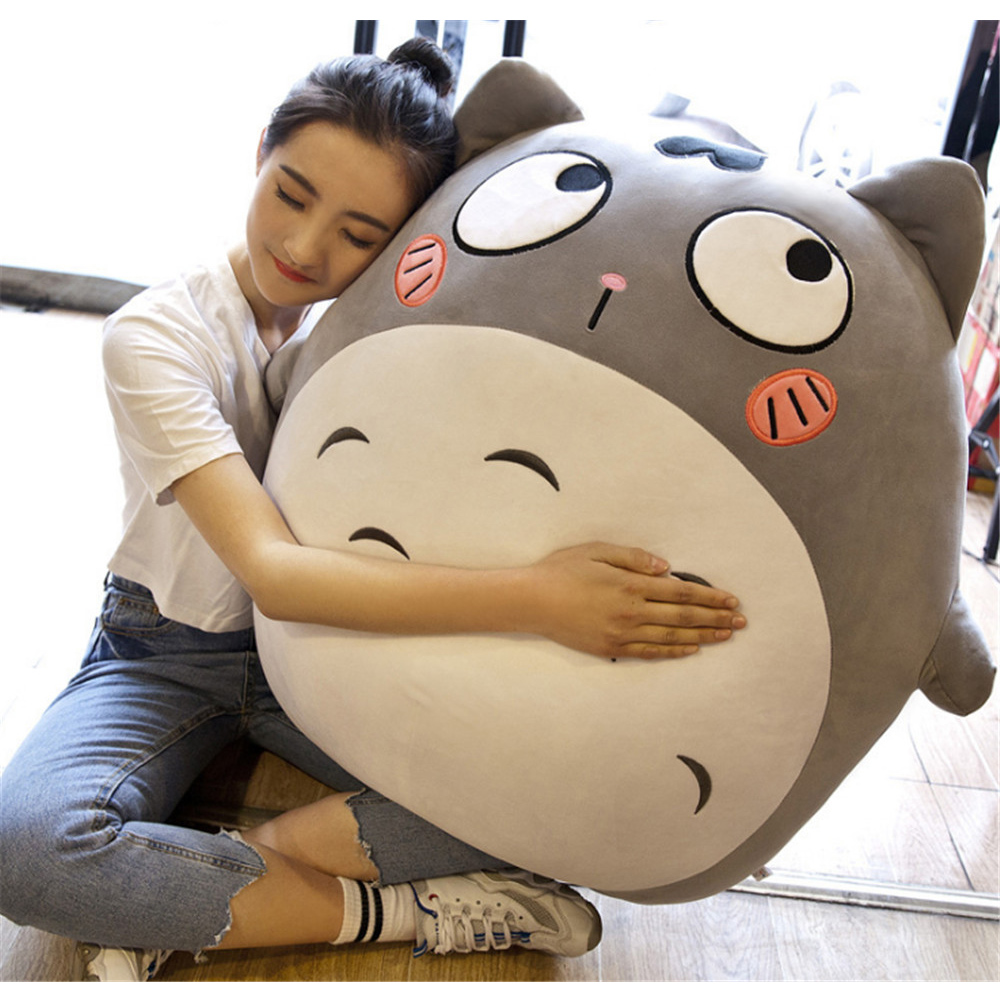 Fancytrader New Pop Big Fat Totoro Plush Toy Stuffed Soft Anime Cartoon Cats Pillow Doll with Funny Expressions Kids Gifts fancytrader stuffed anime cat plush toy lovely big soft cats pillow cushion best gifts for birthady xmas