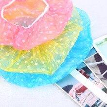 3 шт./партия, милый водонепроницаемый колпачок для душа, детская шапка для ванны/сауны, эластичная лента, шапочка для спа, детская Защитная шапка для волос