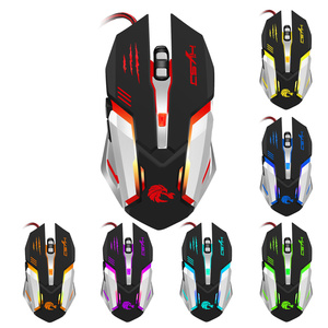 Image 2 - HXSJ Mechanical Game Mouse S100 5500 DPI 6 Button Colorful LED Backlit Light USB Wired Optical Gaming Mouse