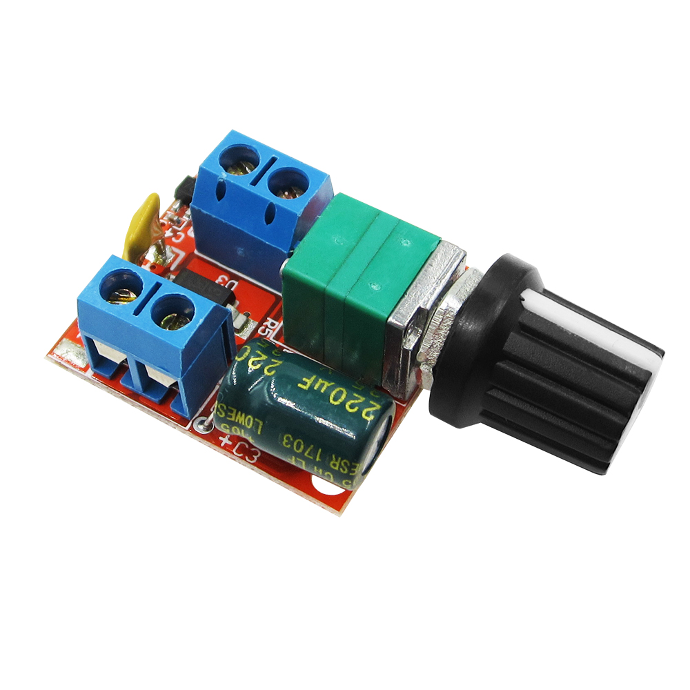Mini DC Motor PWM Speed Controller 3V 6V 12V 24V 35VDC 90W 5A DC Motor Speed Control Switch LED Dimmer Automation Kits panlongic hand twist grip hall throttle 100a 5000w reversible pwm dc motor speed controller 12v 24v 36v 48v soft start brake