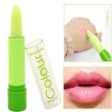 2pcs Popular Fruity magic waterproof Color lipstick lip balm beauty accessories prevent lipstick fruity Smell Lip Gloss