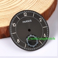 Watch Parts, Parnis 38.79mm Black Dial for 6498 Hand Winding Movement Watches Dial, DIY Wristwatch Dials D38.79KS