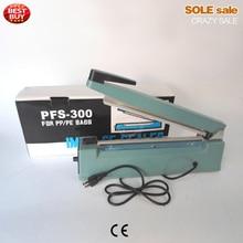 Hand held bag sealing machine, aluminum foil package sealer, SF300, metal structure, 300mm sealing width, EU plug, packaging