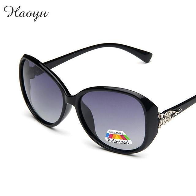 5a287c672dc haoyu Women Fox Polarized Sunglasses big box Sexy Women Sun glasses Oculos  De Sol Feminino De
