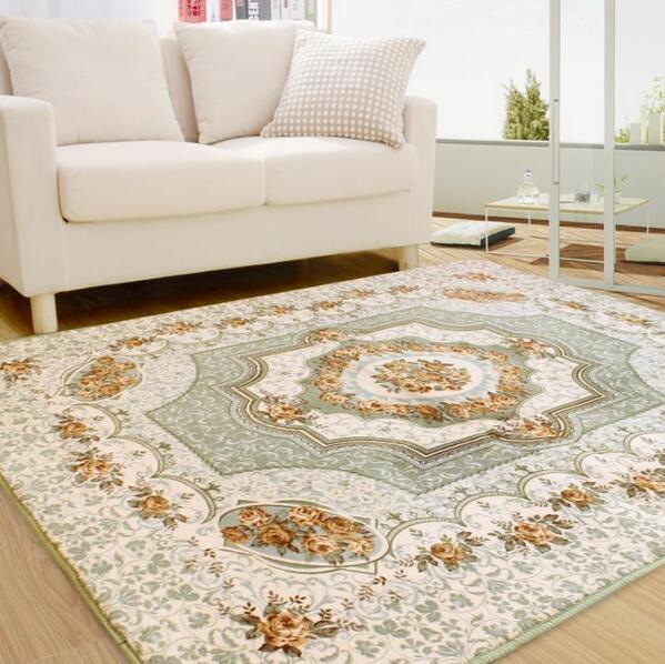 200*240cm Large Carpet For Living Room Childrenu0027s Crawling Carpet European  Jacquard Coral Fleece Rug