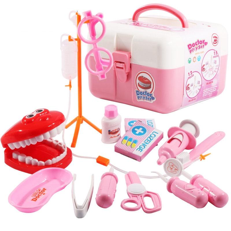 Kids Toys Doctor Teeth Model Set Baby Suitcases Medical kit