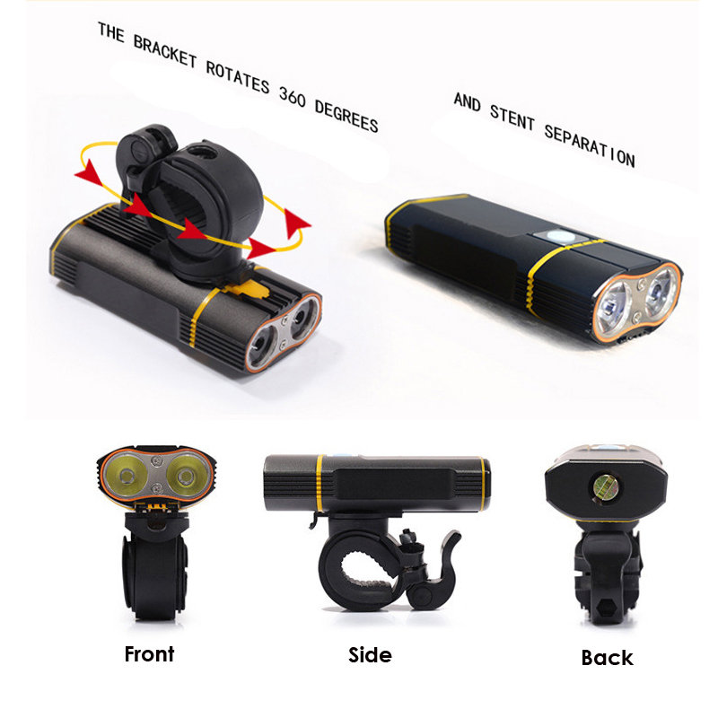 Wheel Up Battery 7000Lumen XM-L T6 LED Bike Light USB Bicycle Lights Rechargeable Lamp Torch Flashlight Cycling Accessories