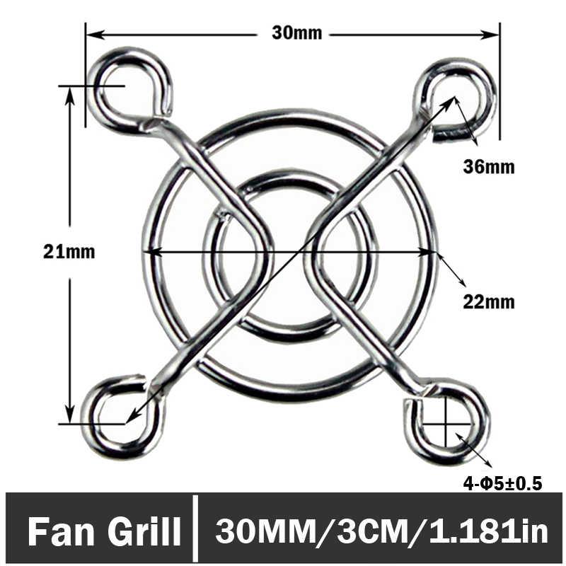 10 ピース/ロット 3 センチメートル金属鋼ネット指プロテクターガードファングリルのための 30 ミリメートル PC DC ファン冷却