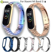 new Stainless steel mi 3 wrist strap for xiaomi band 4 metal watch smart bracelet miband belt replacement+Metal Case