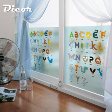 DICOR Cartoon Window Decorative Films Alphabet For Kids Rooms Nursery Kindergarten Accessories Child Learning Family Education
