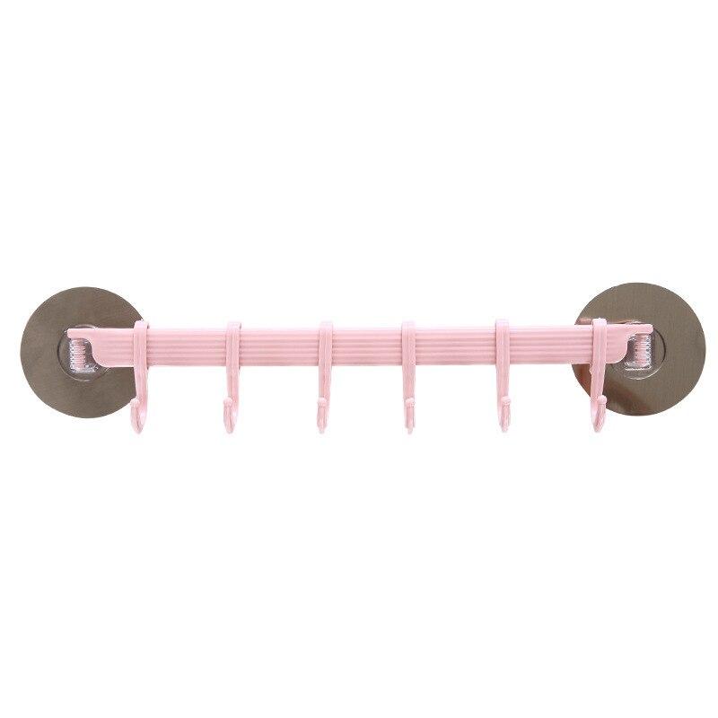 30 x 7cm Kitchen Wall Strong Hook Hanger Sticker Adhesive Towel Shelf Rack Kitchen Storage Rack Bathroom Accessories