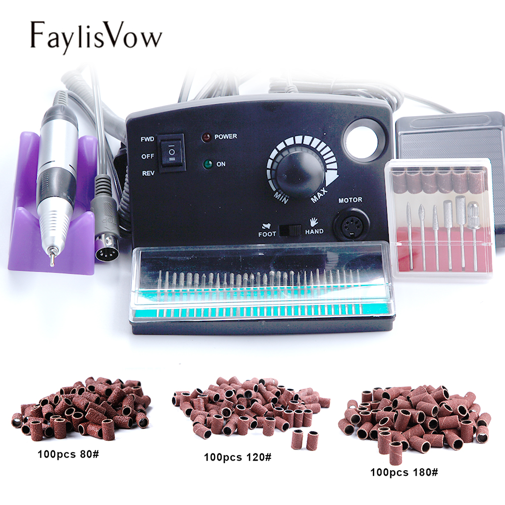 все цены на 30000RPM Electric Apparatus for Manicure Machine Nail Drill Bits Mill Cutters 300pcs Sanding Nail Art Milling Manicure Machine онлайн