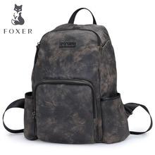 FOXER Brand Men Laptop Backpack 12.1-13inch Fashion Multi-pocket Boy's School Bag Multifunction Large Capacity Travel Backpacks