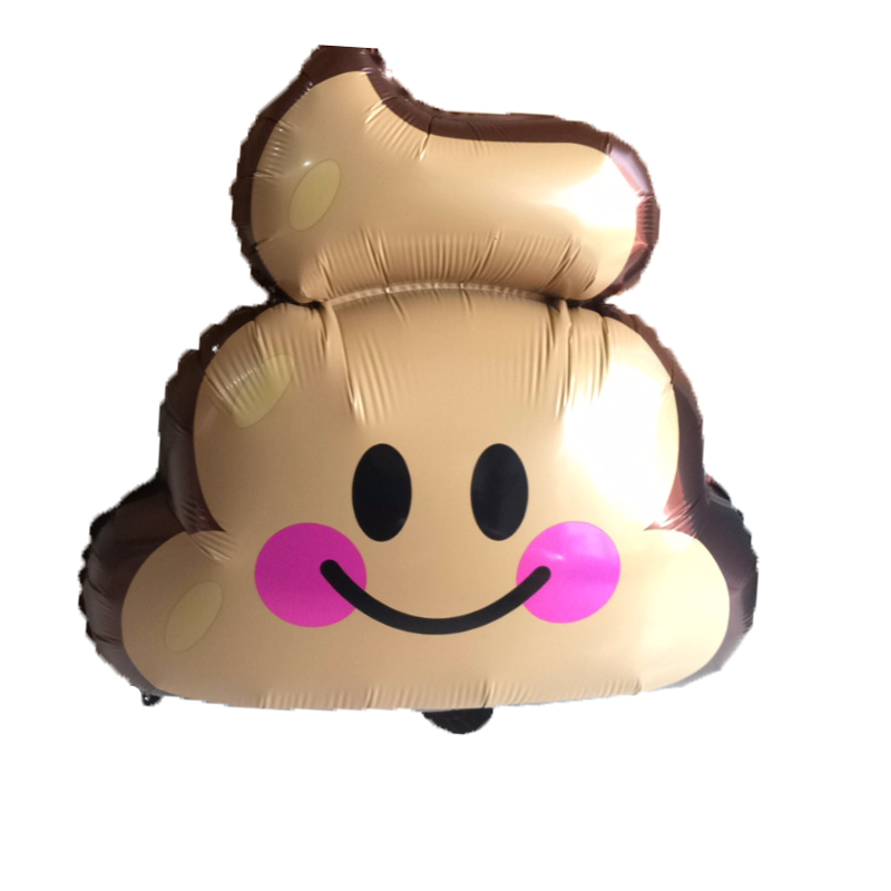 1pcs 49*60cm Stool Feces Emotions Expression Symbol Foil Balloons Bar Adult Birthday Bachelor Party Decorations Supplies Globos