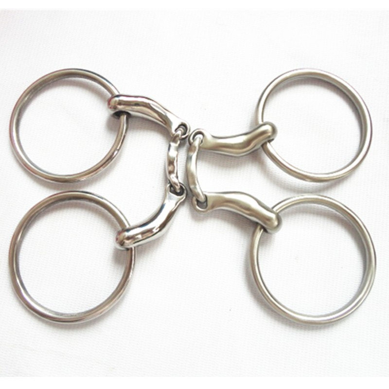 New Stainless Steel Ring Snaffle Bit Horse Product Mouth 5 Inches (H0824 )