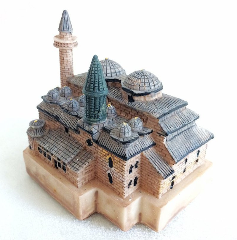 Mevlana Museum Creative Resin Crafts World Famous Landmark Model Tourism Souvenir Gifts Collection Home Decortion image