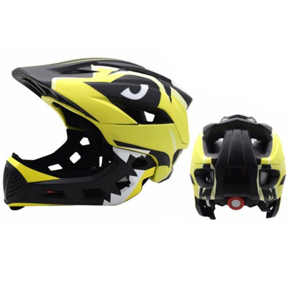Дети полный уход за кожей лица Детские защитный шлем шапки съемный Crashworthy творчества Велоспорт Шлем модульный флип - Цвет: yellow black