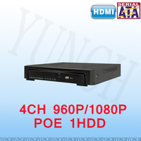 4CH 1080P POE NVR ONVIF Real Time Network Recorder Support POE ONVIF For POE HD IP