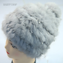 Зимняя шапка женщин Корейский приливные милый кружева вязание шерстяная шапочка осень и зима меховая шапка Мс.