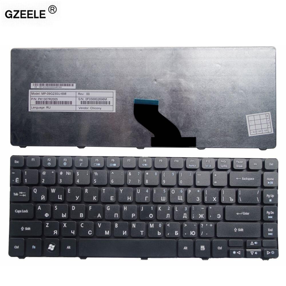GZEELE  Laptop Keyboard For Acer Aspire 4349 3410 4350 4350G ZQH ZQ8A ZQ1 3410T 3410G 3750 4736Z 4738 4738G 4738z  RU BLACK  NEW