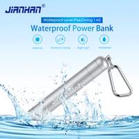 2600mAh Waterproof Power Bank Portable Charger External Batteries With LED Light For Samsung Xiaomi Mobile Phone