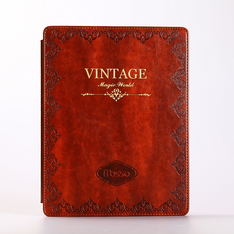 все цены на Solque Case for iPad 2017 9.7 inch PU Leather Flip Hard Shell Smart Cover Retro Vintage Book Tablet Cases Model A1822 A1823 онлайн