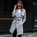 2016 New Autumn And Winter Fashion Trench Coat Women Coat Belt Coats Long Sleeve Turn-Down Collar Casual Clothing Free Shipping