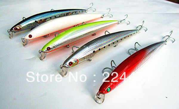 21g14.5cm Suspended Type Minnow Fishing Baits Hard Bait Fishing Tackle Plastic Lip VMC Hook