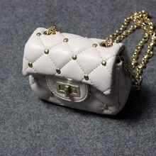PU leather rivet princess children coin purse women's mini wallet small phone pouch money bag carteira bolsa feminina for girls