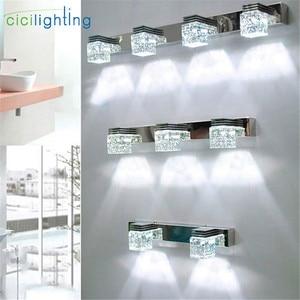 Image 1 - LED Wall Lamp Crystal Mirror Front Light Bathroom makeup Wall Lights Modern bedroom living room wall sconces lighting fixture