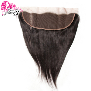 Image 3 - Beauty Forever 13*4 Lace Frontal Straight Brazilian Hair Free Part Ear to Ear 100% Remy Human Hair Lace Frontal