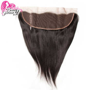 Beauty Forever 13*4 Lace Frontal Straight Brazilian Hair Free Part Ear to Ear 100% Remy Human Hair Lace Frontal