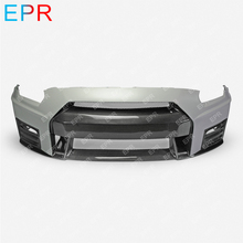 For Nissan GTR R35 CBA DBA Portion Carbon Fiber Nismo Ver2 Style Front Bumper With Lip Fiberglass Tuning Part