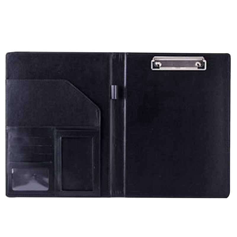 A4 Leather Folder Padfolio Multi-Function Office Organizer Planner Notebook School Office Padfolio Folder For Documents Docume