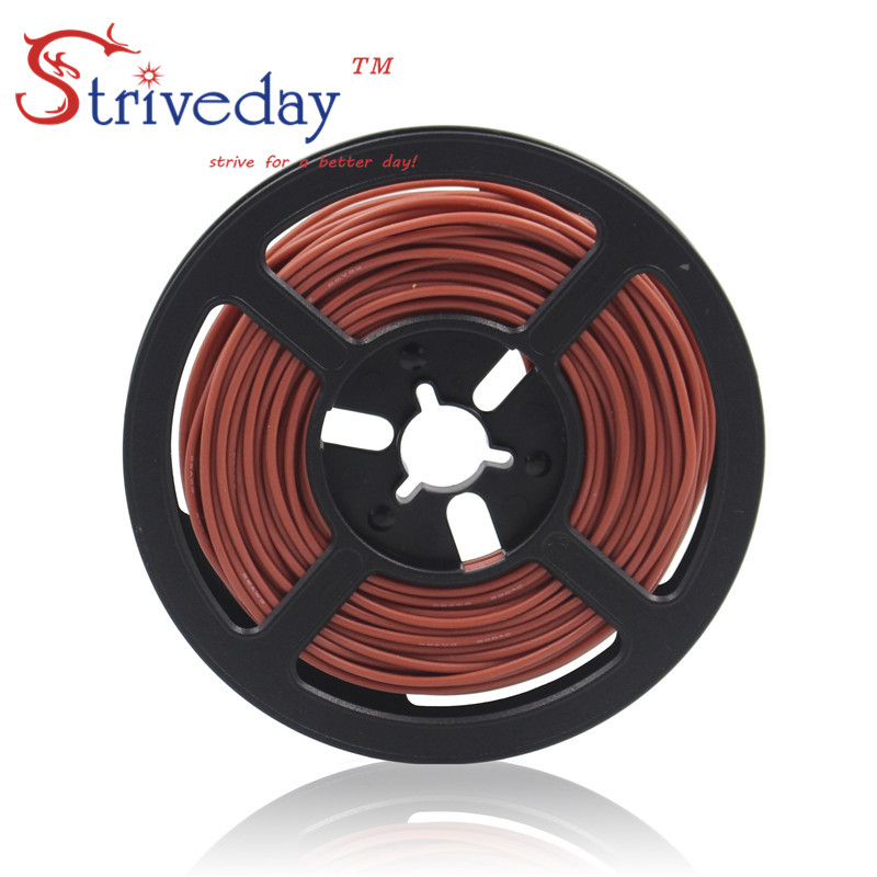 100 meters (328ft) 20AWG high temperature resistance Flexible silicone wire tinned copper wire RC power cord Electronic cable 100 meters 328ft 20awg high temperature resistance flexible silicone wire tinned copper wire rc power cord electronic cable