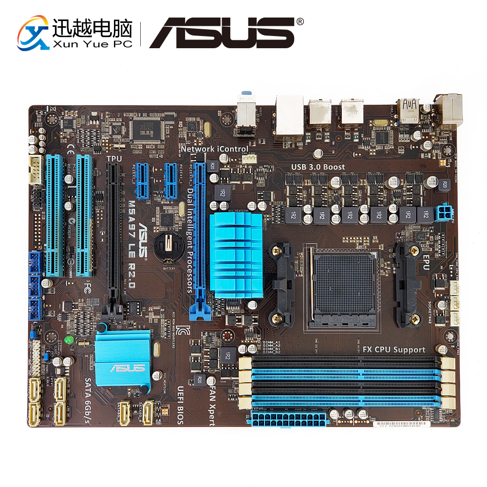 Asus M5A97 LE R2.0 Desktop Motherboard 970 AM3/AM3+ FX6300 FX8300 DDR3 32G SATA3 USB3.0 ATX asus m5a97 le r2 0 motherboard socket am3 ddr3 32gb for amd 970 m5a97 le r2 0 desktop mainboard systemboard sata iii used