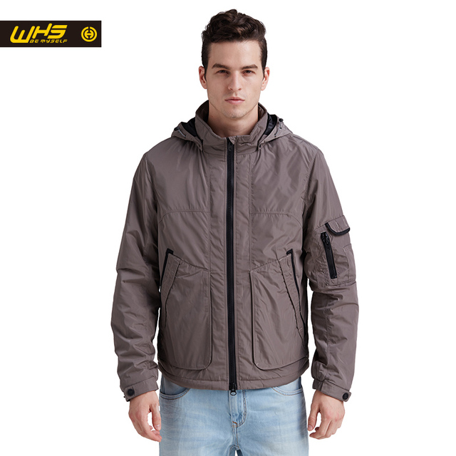 WHS Новый Открытый мужской хлопка куртки мода высокого качества куртка мужчины открытый подлинной пальто досуг Одежда весной и зимой