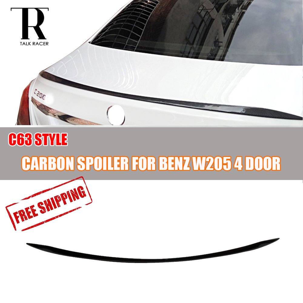 C63 Style W205 Carbon Fiber Rear Lip Wing Spoiler for Mercedes-Benz W205 C180 C200 C220 C250 C300 C350 C63 Sedan 2015 2016 2017C63 Style W205 Carbon Fiber Rear Lip Wing Spoiler for Mercedes-Benz W205 C180 C200 C220 C250 C300 C350 C63 Sedan 2015 2016 2017