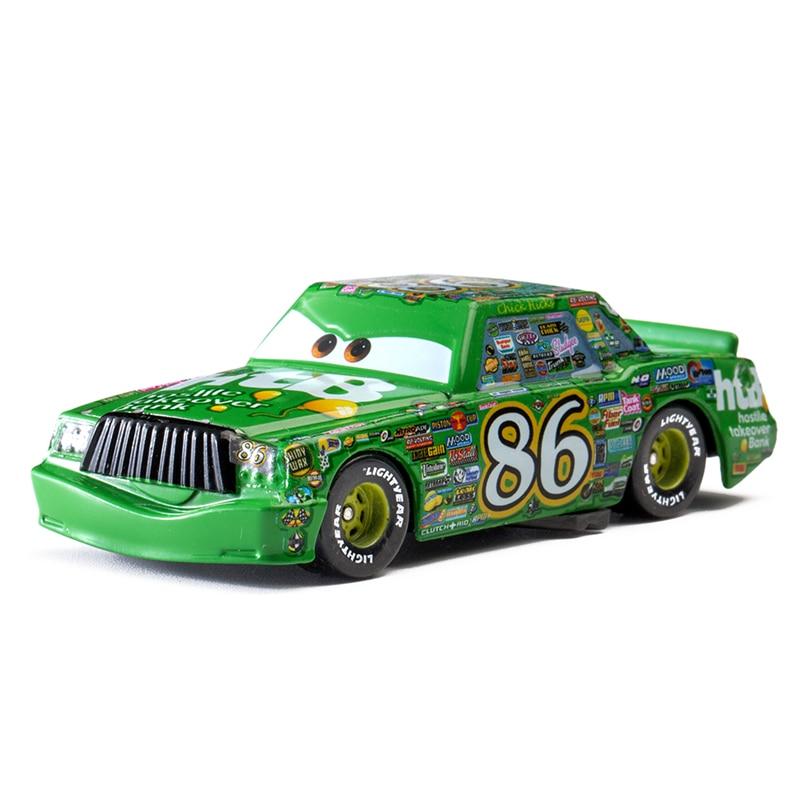 Disney Pixar Cars 3 Lightning Mc Queen Blue Jackson Storm Mater 1:55 Diecast Metal Alloy Model Car Toy Children Gift Boys