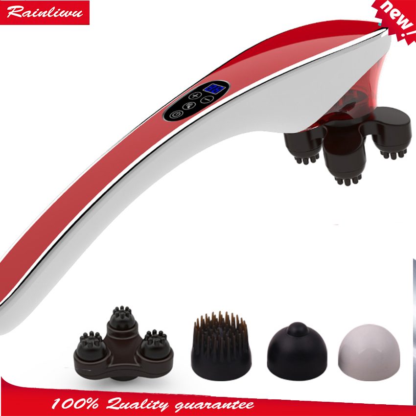 Dolphin massage stick electric cervical vertebra massage device multifunctional neck leg full-body massage hammer electric full body multifunctional massage mattress vibration massage device massage cushion infrared full body massager
