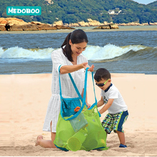 Medoboo Mom Baby Beach Bags Childrens Toys Storage Kids  Sand Away Portable Mesh Bag Folding Clothes Towel Hand